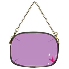 Purple Flagred White Star Chain Purses (Two Sides)