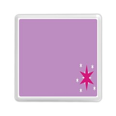 Purple Flagred White Star Memory Card Reader (Square)