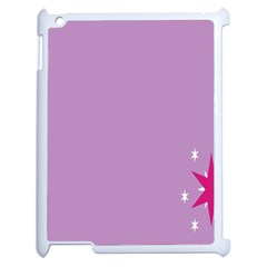 Purple Flagred White Star Apple iPad 2 Case (White)