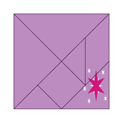 Purple Flagred White Star Acrylic Tangram Puzzle (6  x 6 )