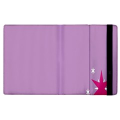 Purple Flagred White Star Apple iPad 2 Flip Case