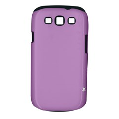 Purple Flagred White Star Samsung Galaxy S III Classic Hardshell Case (PC+Silicone)