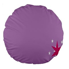 Purple Flagred White Star Large 18  Premium Round Cushions