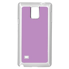 Purple Flagred White Star Samsung Galaxy Note 4 Case (White)