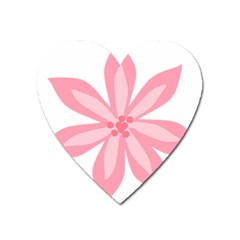 Pink Lily Flower Floral Heart Magnet