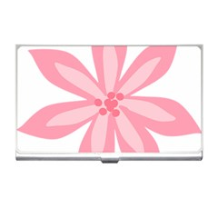 Pink Lily Flower Floral Business Card Holders