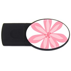 Pink Lily Flower Floral Usb Flash Drive Oval (4 Gb)