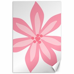 Pink Lily Flower Floral Canvas 20  x 30