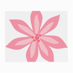 Pink Lily Flower Floral Small Glasses Cloth (2-Side)