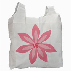 Pink Lily Flower Floral Recycle Bag (One Side)