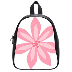 Pink Lily Flower Floral School Bags (Small)