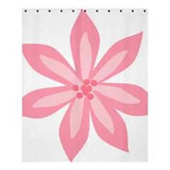 Pink Lily Flower Floral Shower Curtain 60  x 72  (Medium)