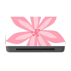 Pink Lily Flower Floral Memory Card Reader with CF