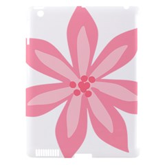 Pink Lily Flower Floral Apple Ipad 3/4 Hardshell Case (compatible With Smart Cover)