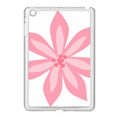Pink Lily Flower Floral Apple iPad Mini Case (White)