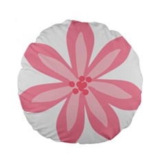 Pink Lily Flower Floral Standard 15  Premium Round Cushions
