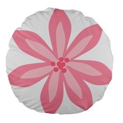 Pink Lily Flower Floral Large 18  Premium Round Cushions
