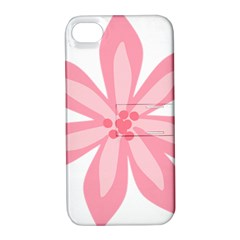 Pink Lily Flower Floral Apple iPhone 4/4S Hardshell Case with Stand