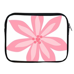 Pink Lily Flower Floral Apple iPad 2/3/4 Zipper Cases