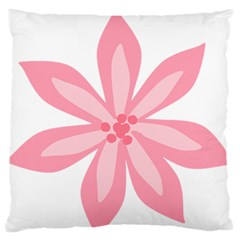Pink Lily Flower Floral Standard Flano Cushion Case (Two Sides)