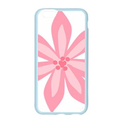 Pink Lily Flower Floral Apple Seamless iPhone 6/6S Case (Color)