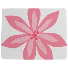 Pink Lily Flower Floral Jigsaw Puzzle Photo Stand (Rectangular)