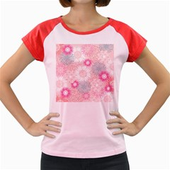 Flower Floral Sunflower Rose Pink Women s Cap Sleeve T-Shirt