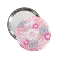 Flower Floral Sunflower Rose Pink 2 25  Handbag Mirrors