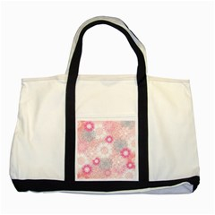 Flower Floral Sunflower Rose Pink Two Tone Tote Bag