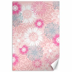 Flower Floral Sunflower Rose Pink Canvas 20  x 30