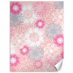 Flower Floral Sunflower Rose Pink Canvas 36  x 48