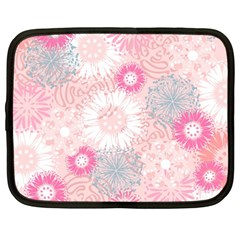 Flower Floral Sunflower Rose Pink Netbook Case (large)
