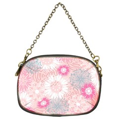 Flower Floral Sunflower Rose Pink Chain Purses (Two Sides)