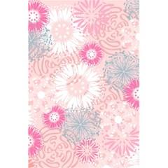 Flower Floral Sunflower Rose Pink 5.5  x 8.5  Notebooks