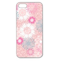Flower Floral Sunflower Rose Pink Apple Seamless iPhone 5 Case (Clear)