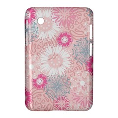 Flower Floral Sunflower Rose Pink Samsung Galaxy Tab 2 (7 ) P3100 Hardshell Case
