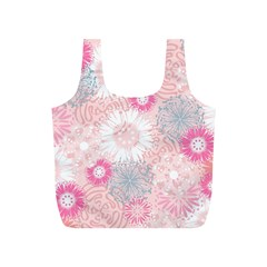 Flower Floral Sunflower Rose Pink Full Print Recycle Bags (S)