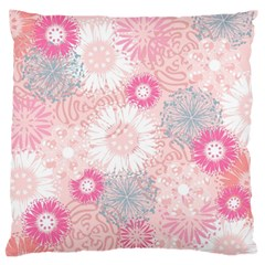 Flower Floral Sunflower Rose Pink Standard Flano Cushion Case (Two Sides)
