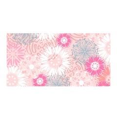 Flower Floral Sunflower Rose Pink Satin Wrap