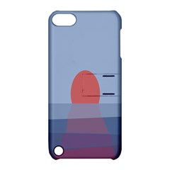 Sunrise Purple Orange Water Waves Apple iPod Touch 5 Hardshell Case with Stand