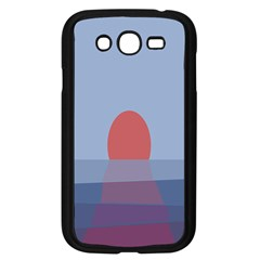 Sunrise Purple Orange Water Waves Samsung Galaxy Grand DUOS I9082 Case (Black)