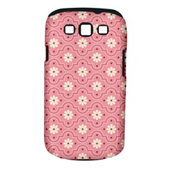 Pink Flower Floral Samsung Galaxy S Iii Classic Hardshell Case (pc+silicone)