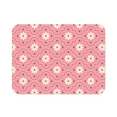 Pink Flower Floral Double Sided Flano Blanket (Mini)