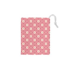 Pink Flower Floral Drawstring Pouches (xs)
