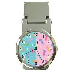 Socks Kids Blue Pink Yellow Purple Green Rainbow Money Clip Watches