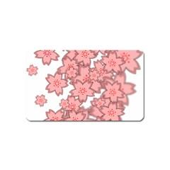 Flower Floral Pink Magnet (Name Card)