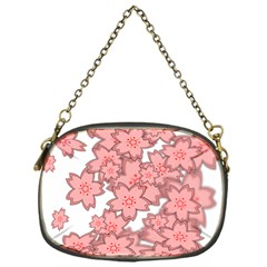 Flower Floral Pink Chain Purses (One Side)