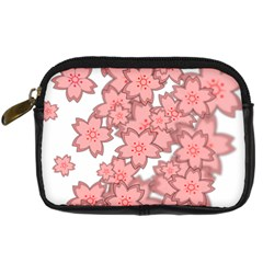 Flower Floral Pink Digital Camera Cases