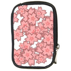 Flower Floral Pink Compact Camera Cases