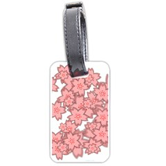 Flower Floral Pink Luggage Tags (One Side)